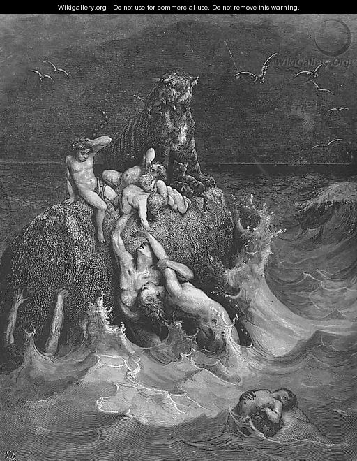 The Deluge - Gustave Dore - WikiGallery org, the largest