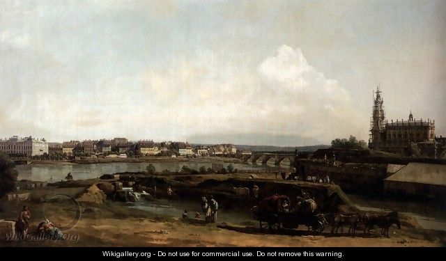 dresden from the left bank of the elbe below the fortifications 1748 bernardo bellotto. Black Bedroom Furniture Sets. Home Design Ideas