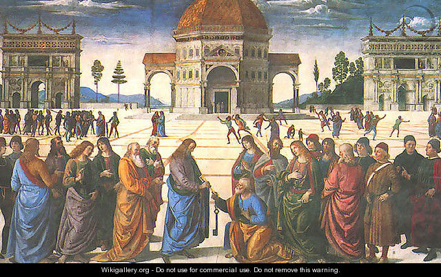 Christ Giving The Keys To St Peter Perugino