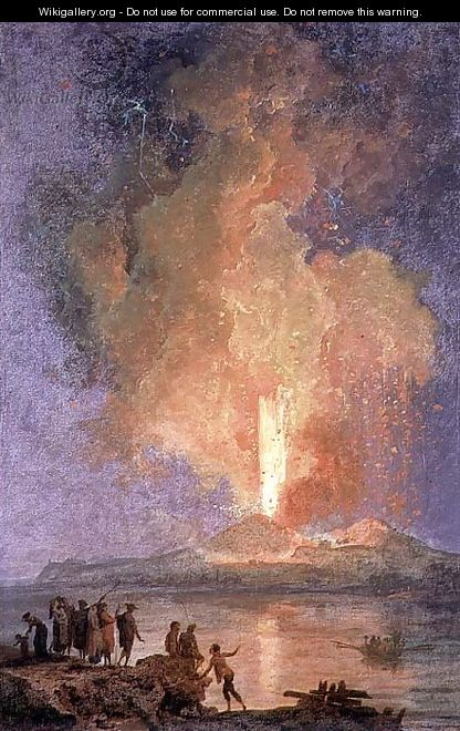 The eruption of vesuvius 2 pierre jacques volaire wikigallery org