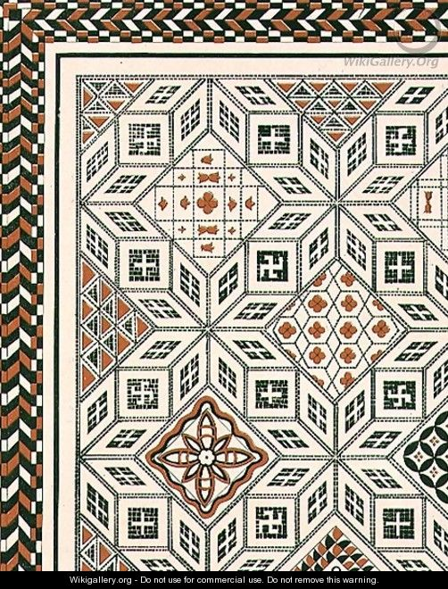 design of a mosaic pavement discovered at nimes probably 2nd or 3rd century pub by day son. Black Bedroom Furniture Sets. Home Design Ideas