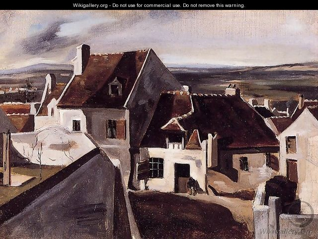 The inn at montigny les cormeilles jean baptiste camille corot the largest - Montigny les cormeilles ...