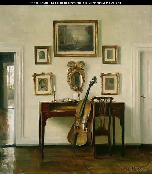 The Music Room Carl Vilhelm Holsoe The Largest Gallery In The World