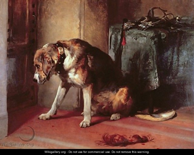 suspense sir edwin henry landseer the largest gallery in the world. Black Bedroom Furniture Sets. Home Design Ideas