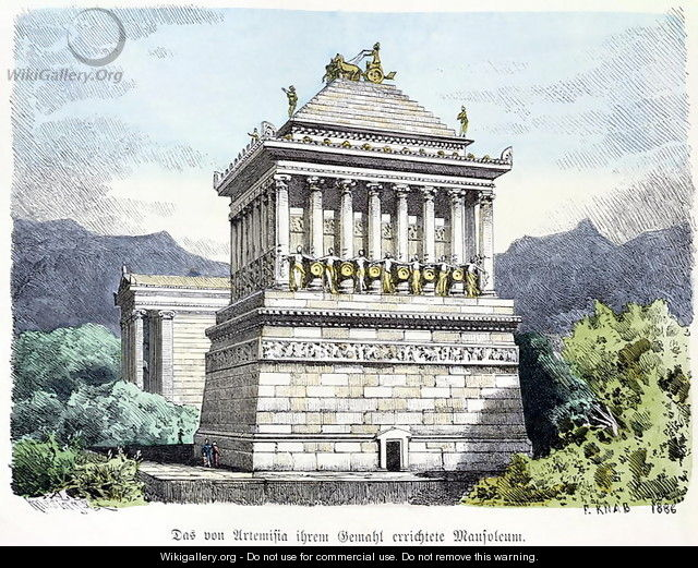 The Mausoleum of Halicarnassus - Ferdinand Knab ...