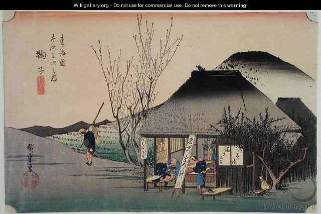 Utagawa Hiroshige Paintings Valleys And Houses