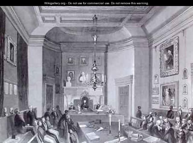view of the interior of somerset house showing a meeting