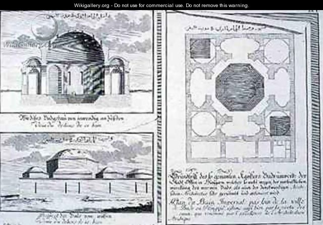 Plan Elevation Cross Section : Plan elevation and cross section of the imperial baths
