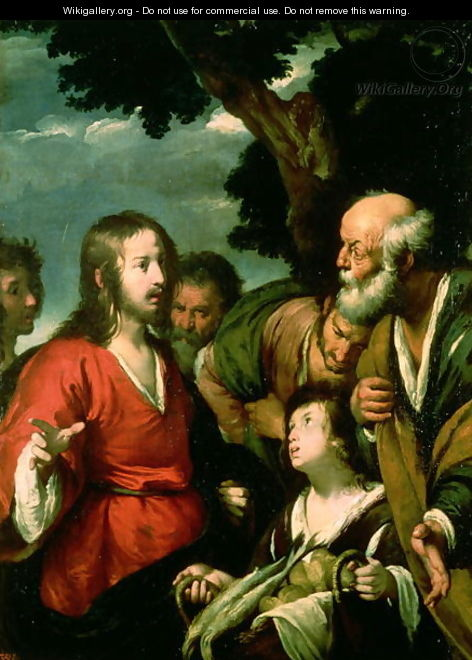 The miracle of the loaves and fishes bernardo strozzi for Miracle of the loaves and fishes