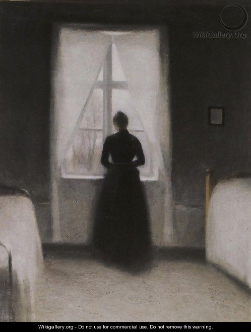 Bedroom Vilhelm Hammershoi The