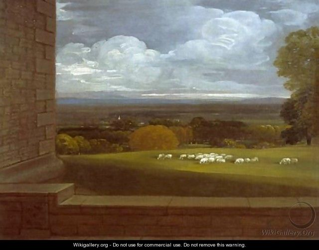 View from the terrace at windsor benjamin west for Use terrace in a sentence