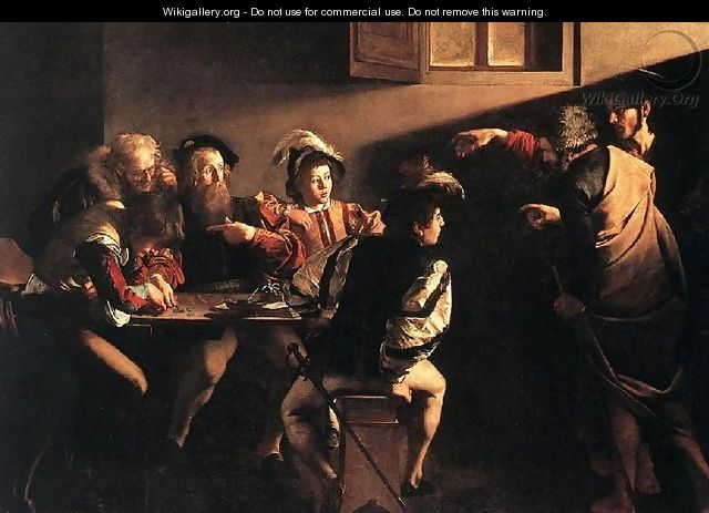 The Calling of Saint Matthew - Caravaggio - WikiGallery ...