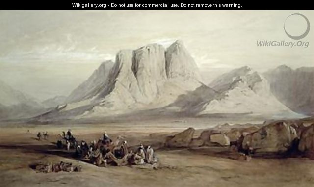Mount Sinai 2 - Edward Lear - WikiGallery org, the largest