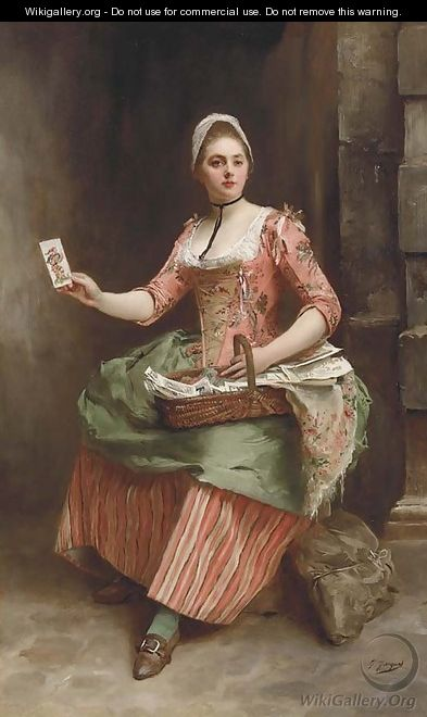 The card seller - Gustave Jean Jacquet - WikiGallery.org, the ...