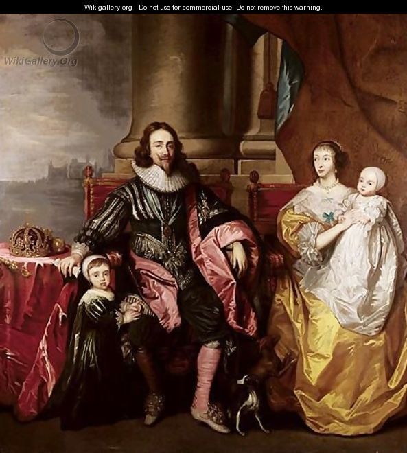 Charles I And Henrietta Maria With Their Two Eldest