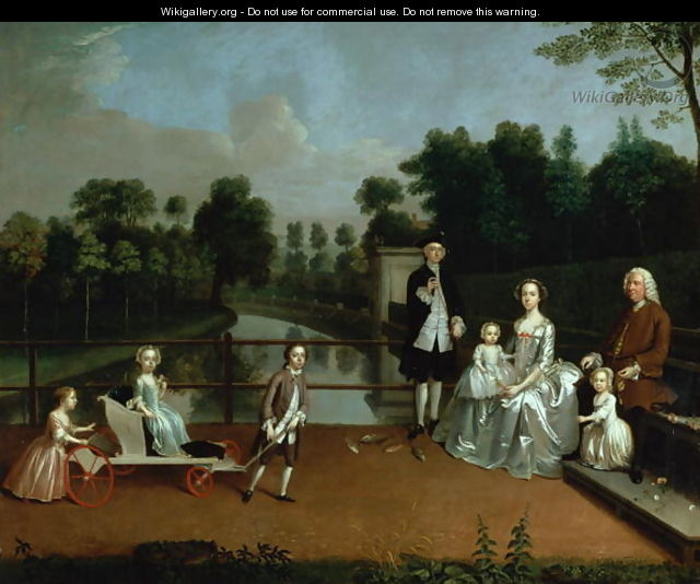 A family group on a terrace in a garden 1749 arthur for The terrace group