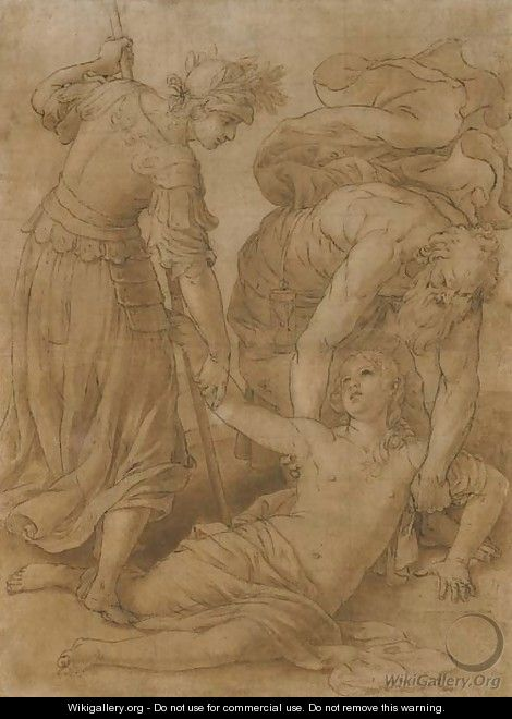 An allegory of time and prudence revealing truth after alessandro