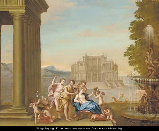 the toilet of venus after francesco albani wikigallery org the largest gallery in the world