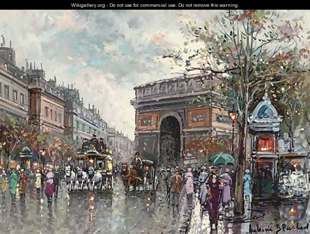 paris in the rain after antoine blanchard the largest gallery in the world. Black Bedroom Furniture Sets. Home Design Ideas