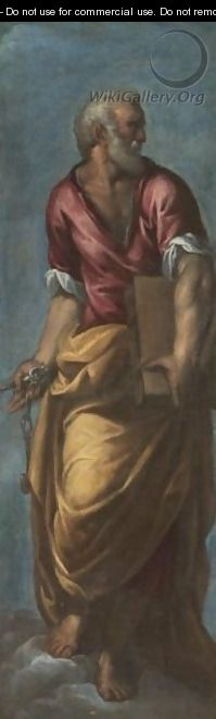 Saint peter after ippolito scarsella see scarsellino for Peter ippolito