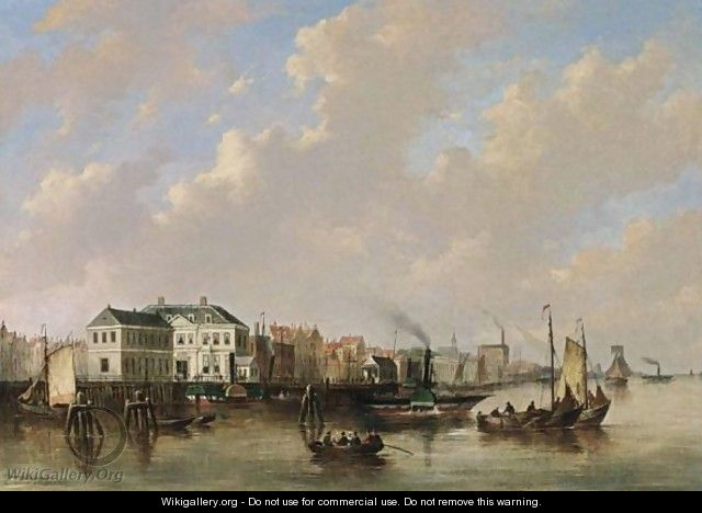 File:Everhardus Koster - Ships on the River Ij, Amsterdam