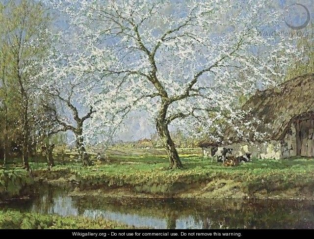 Spring Blossoms - Arnold Marc Gorter - WikiGallery org, the largest