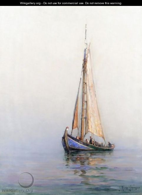 Sail Boats Oil Painting By Yulindo