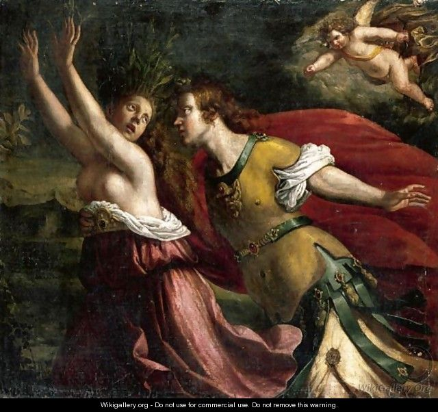 Apollo And Daphne - Florentine School - WikiGallery org, the