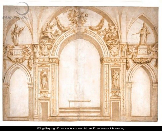 An Elaborate Design For The Decoration Surrounding An Apse ...