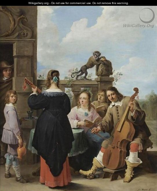 A family concert on the terrace of a country house a self for Kids on the terrace