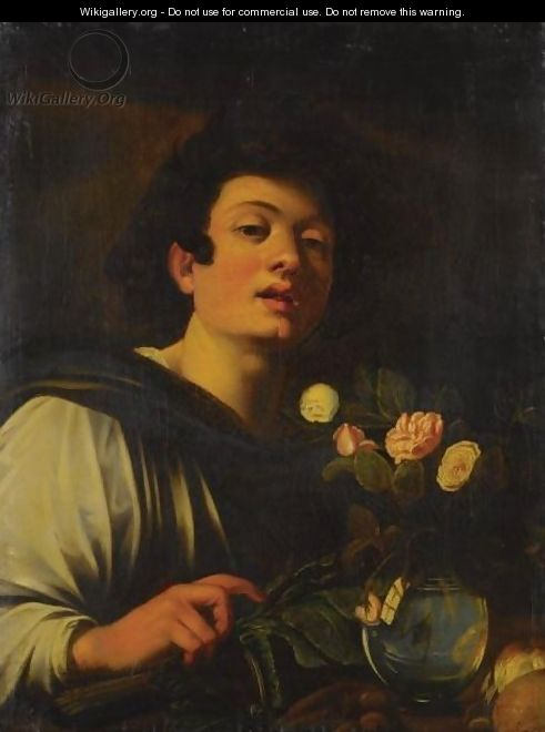 Boy With A Vase Of Flowers After Michelangelo Merisi Da Caravaggio Wikigallery Org The
