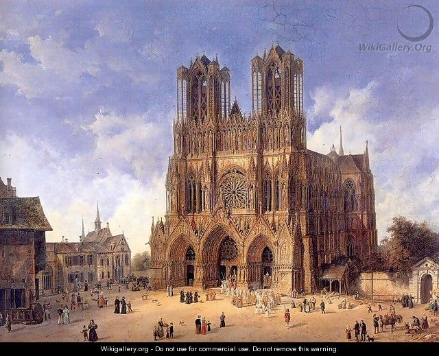 Reims Cathedral Oil Paintings