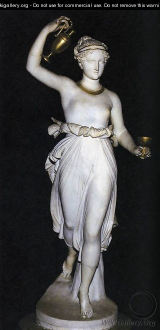 Hebe Antonio Canova Wikigallery Org The Largest Gallery