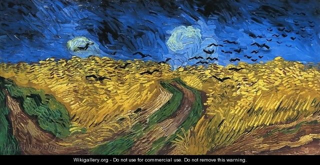 Wheatfield with crows vincent van gogh for Van gogh paintings locations