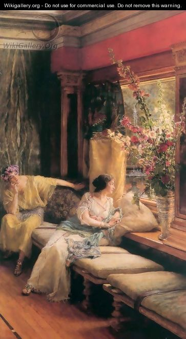 Vain Courtship 1900 - Sir Lawrence Alma-Tadema