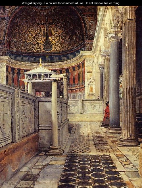 Interior Of The Church Of San Clemente Rome - Sir Lawrence Alma-Tadema