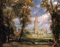 Salisbury Cathedral from the Bishop's Grounds c. 1825 - John Constable