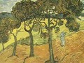 Landscape With Trees And Figures - Vincent Van Gogh