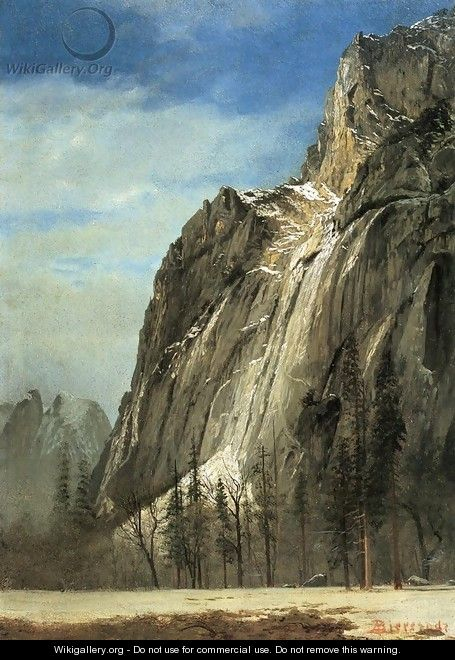 Cathedral Rocks A Yosemite View - Albert Bierstadt