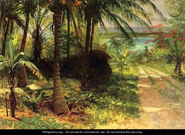 Tropical Landscape - Albert Bierstadt