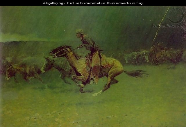 Remington Stampede - Frederic Remington