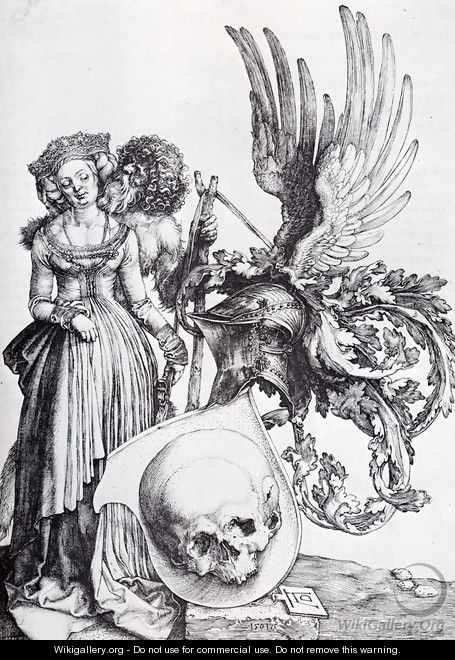 Coat Of Arms With A Skull - Albrecht Durer
