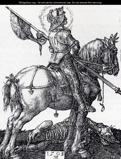 St George On Horseback - Albrecht Durer