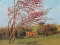 Landscape Of A Blossoming Red Almond - John William Godward