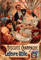 Biscuits Champagne Lefevre Utile - Alphonse Maria Mucha