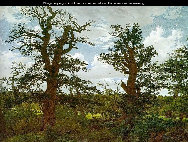Landscape with Oak Trees & a Hunter 1811 - Caspar David Friedrich