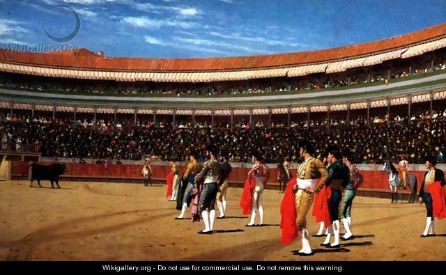 Plaza De Toros The Entry Of The Bull - Jean-Léon Gérôme