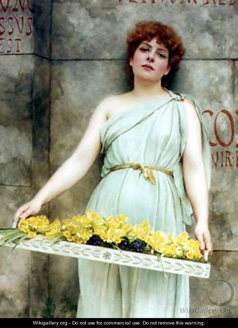 A Flower Seller - John William Godward