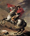 Napoleon at the St. Bernard Pass 1801 - Jacques Louis David