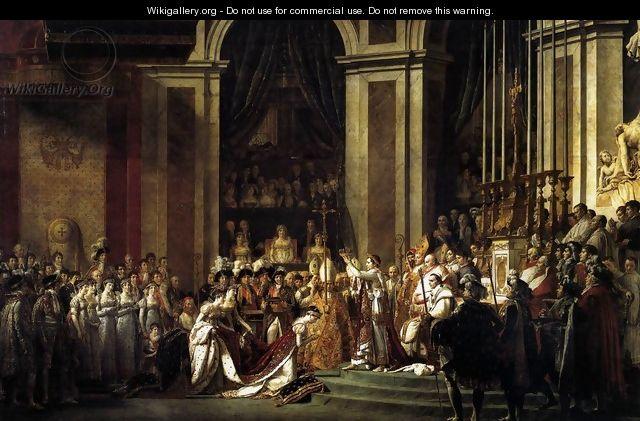 Consecration of the Emperor Napoleon I and Coronation of the Empress Josephine 1805-07 - Jacques Louis David